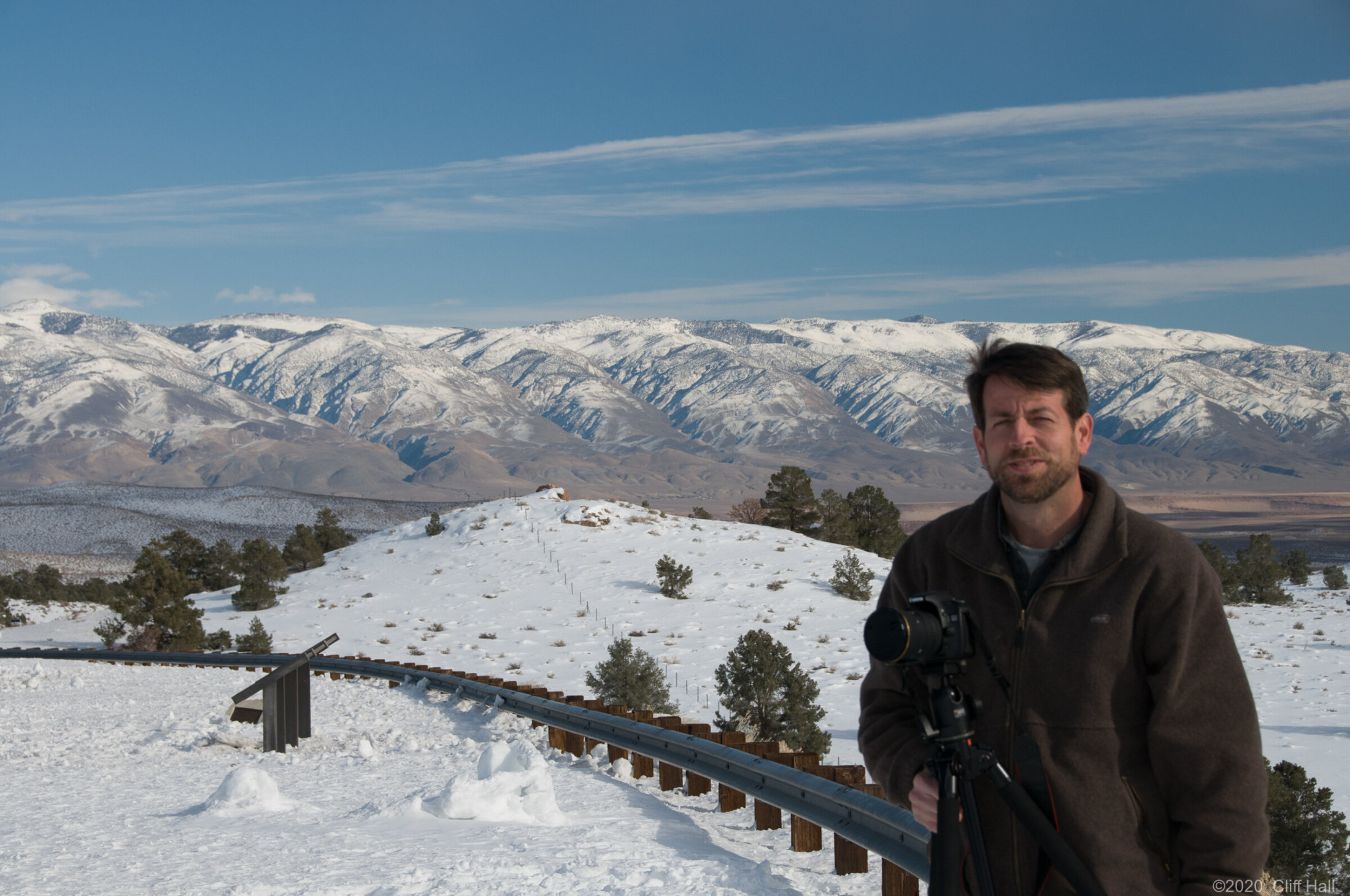 Steve with a White Mountains backdrop, CA