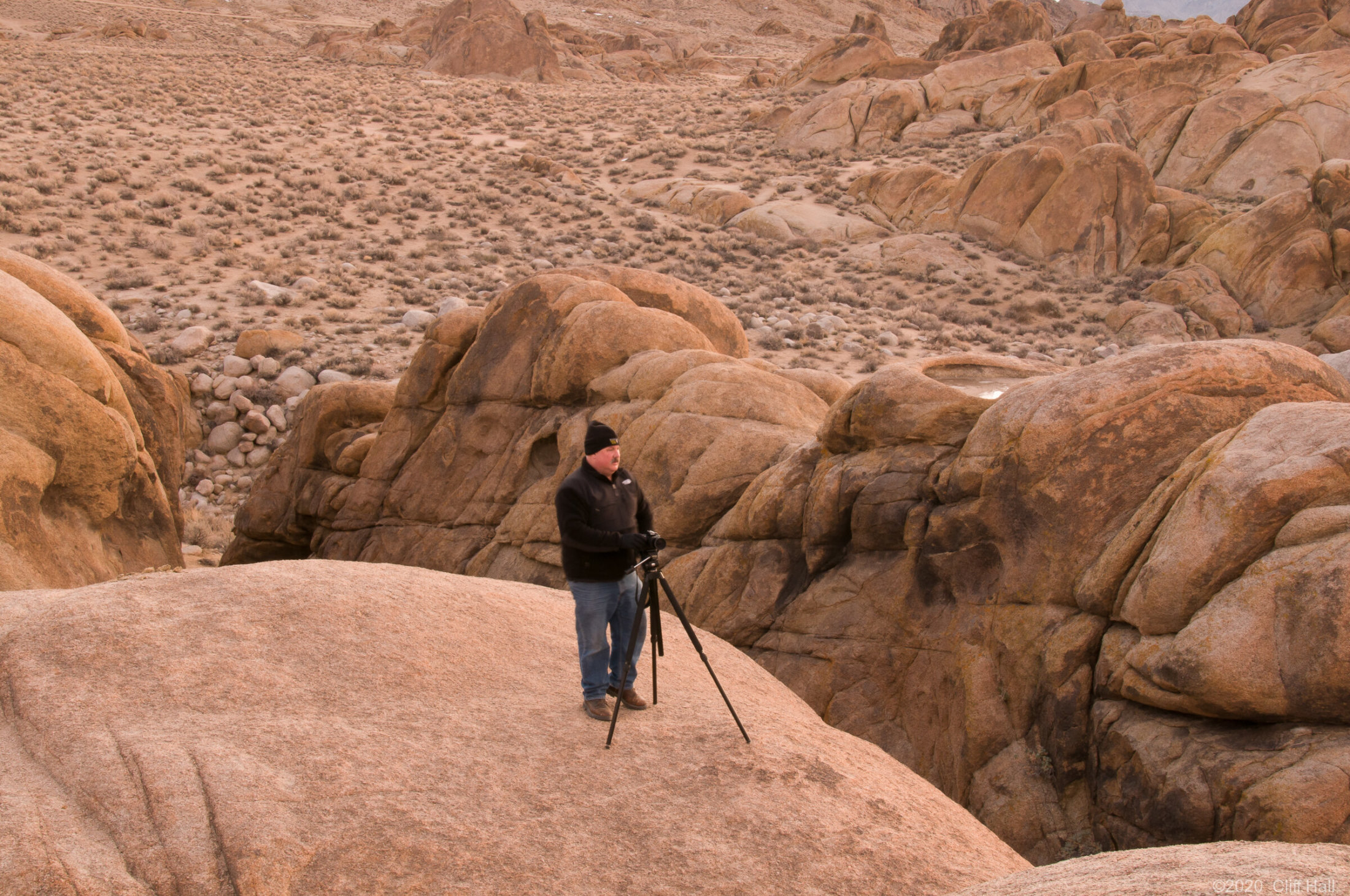 Roger in the Alabama Hills, CA