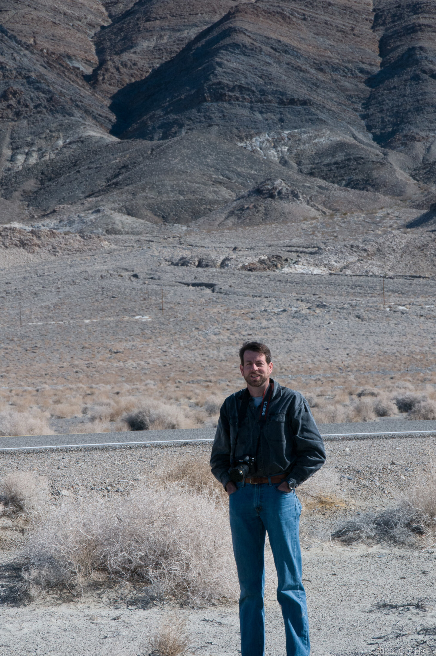 Steve on road to Death Valley