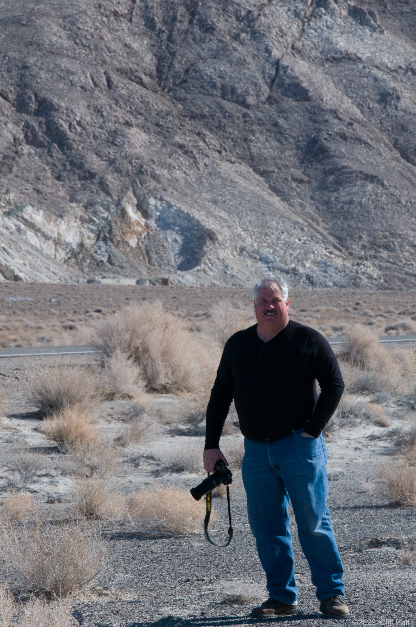 Roger on road to Death Valley