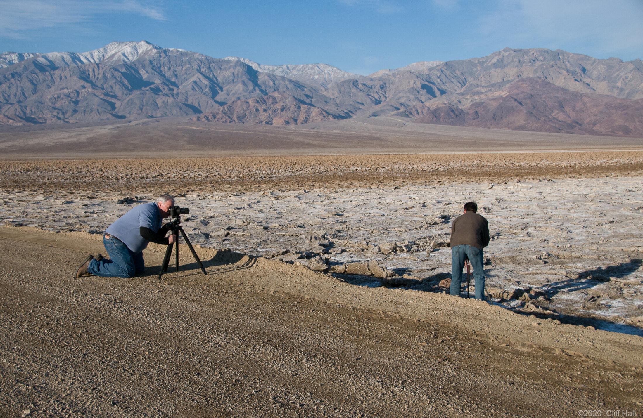 Roger & Steve at Salt Creek, Death Valley, CA