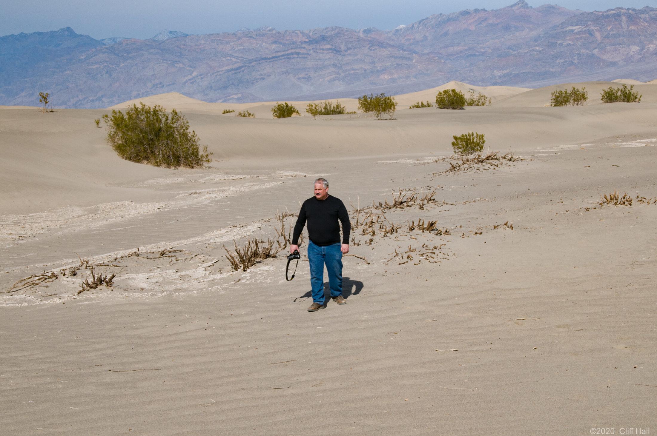 Roger at Mesquite Flat Dunes