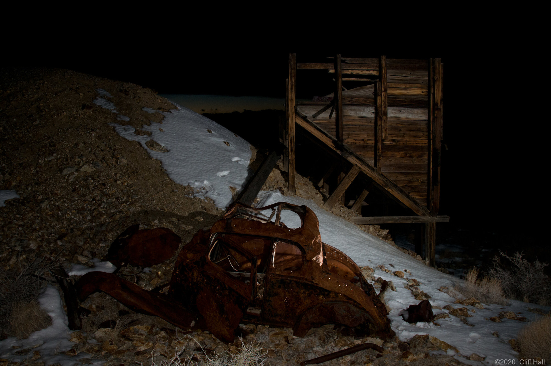 Night at the old gold mine