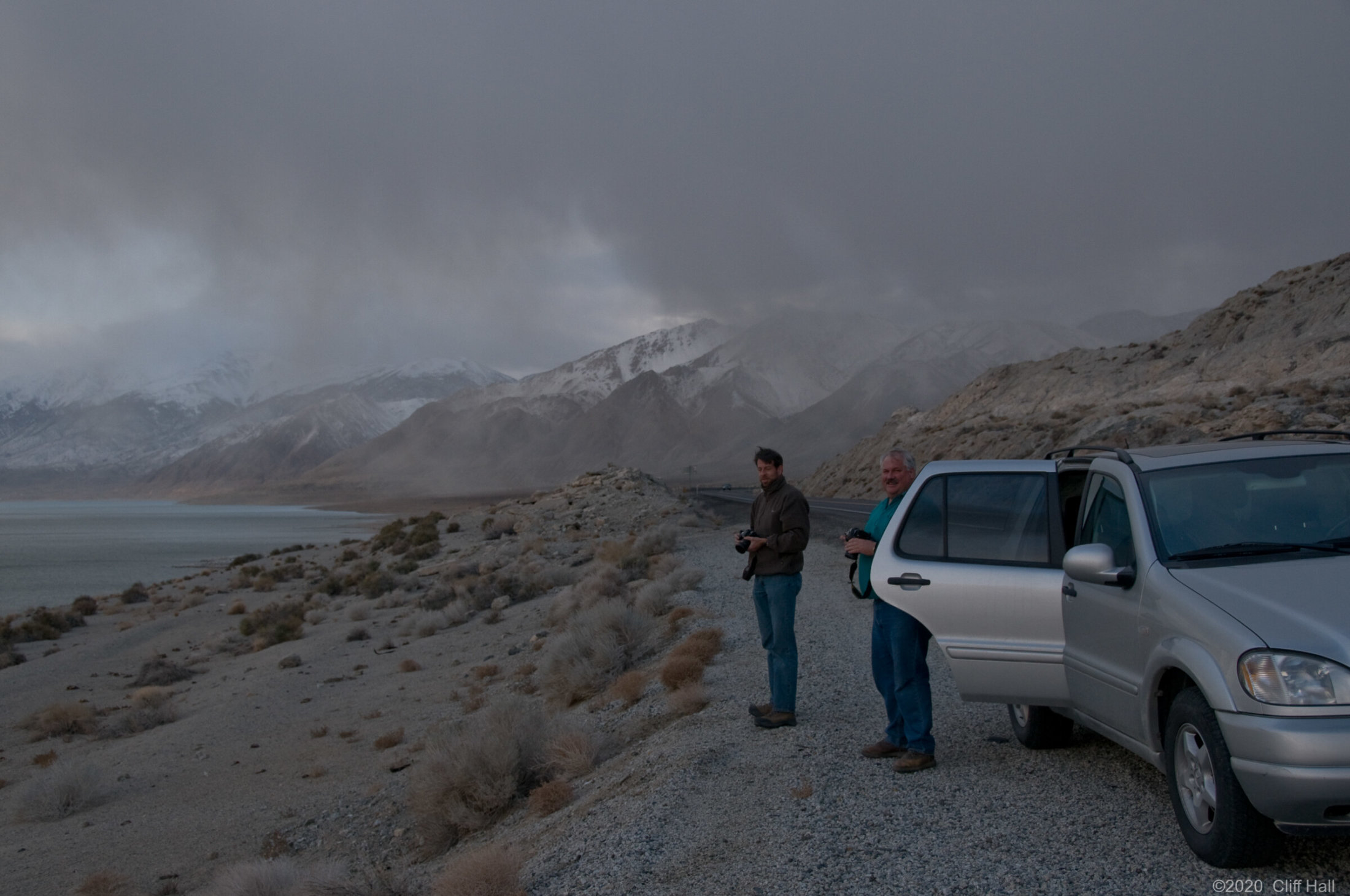 Chased by a storm, NV