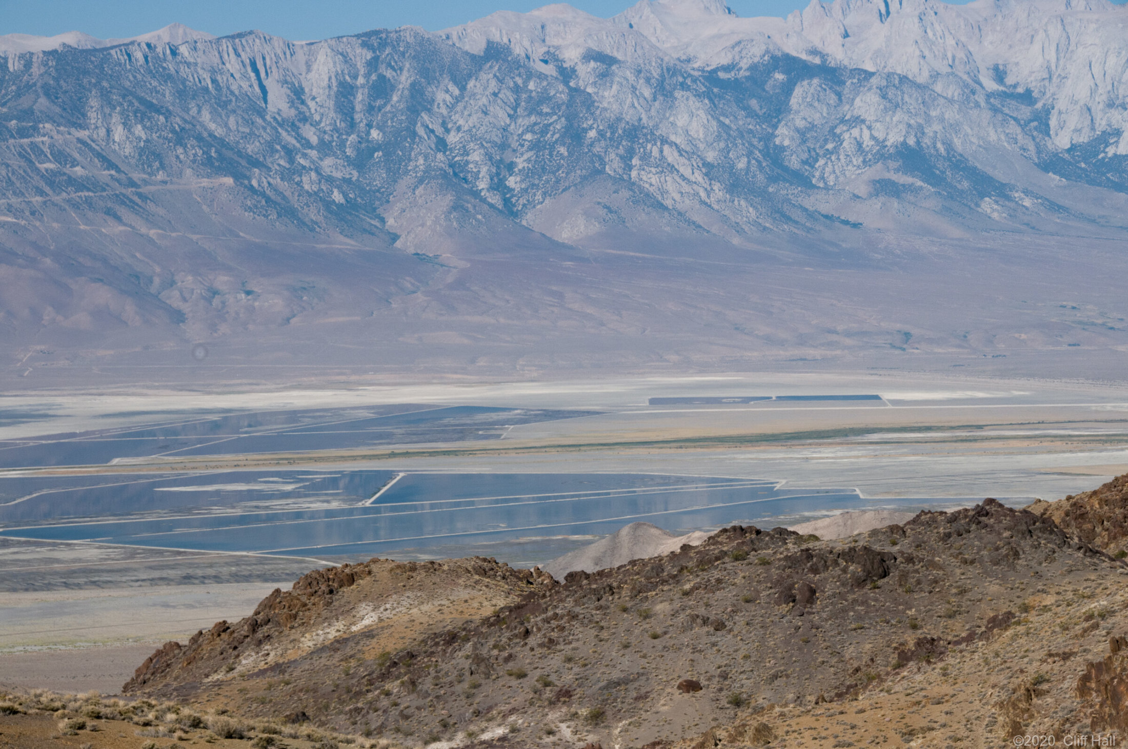 Owens Lake from the Inyo Mountains