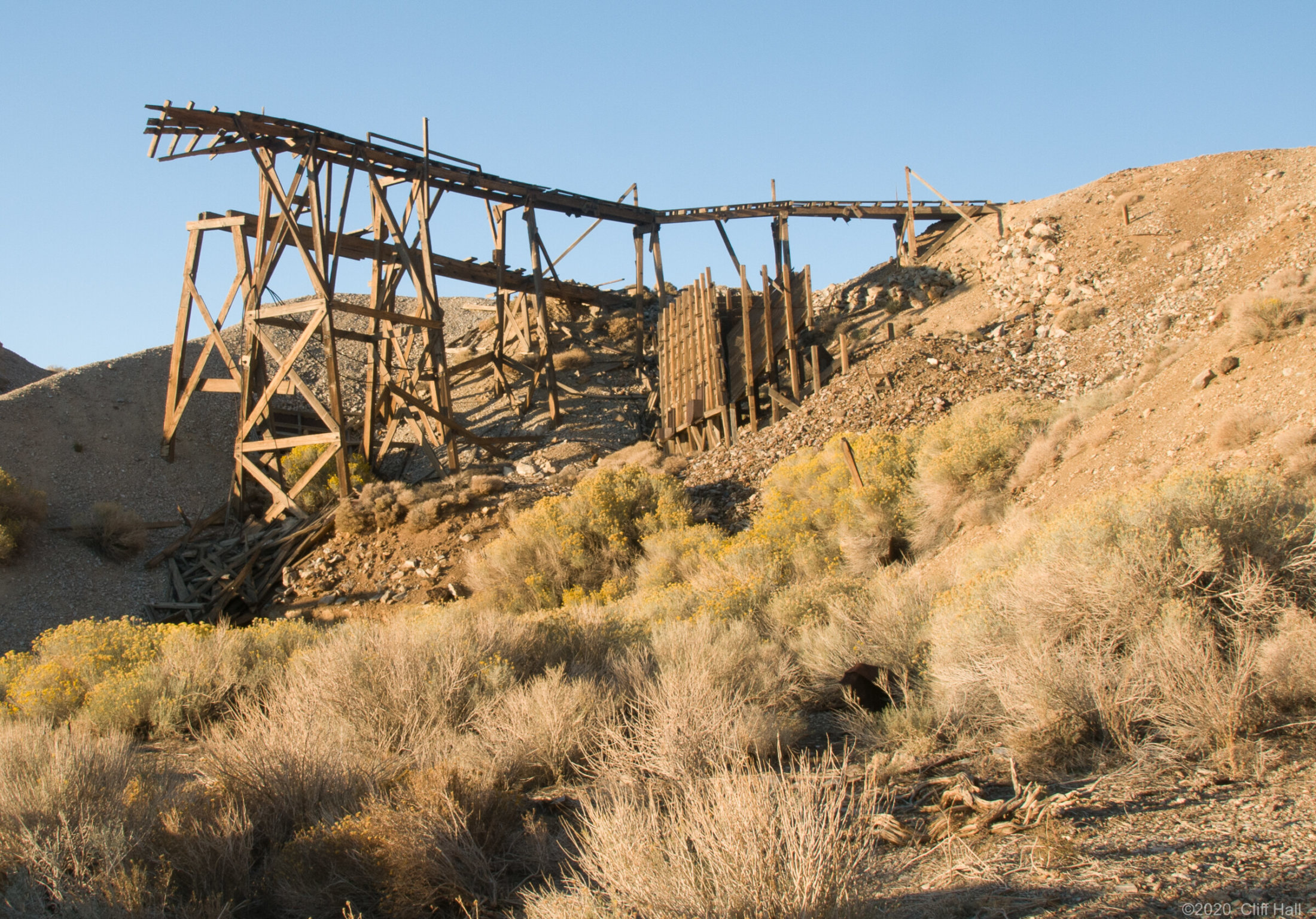 Trestle for ore carts from mine