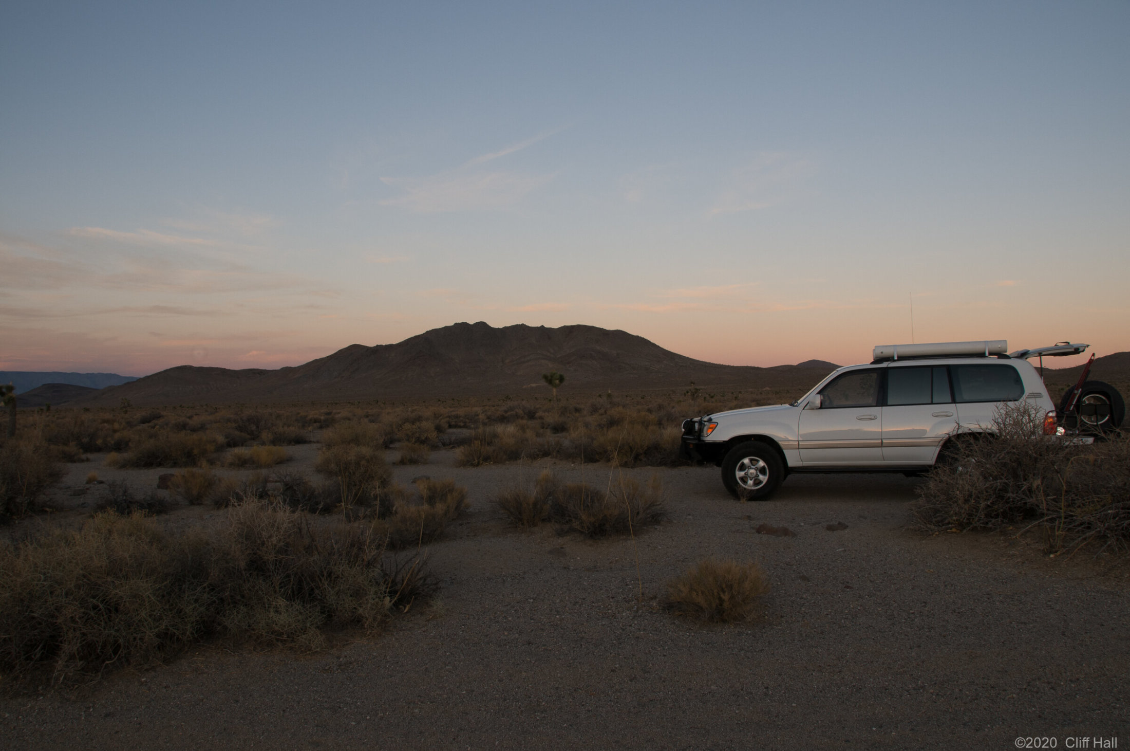First night out, camping in Death Valley Nat Park