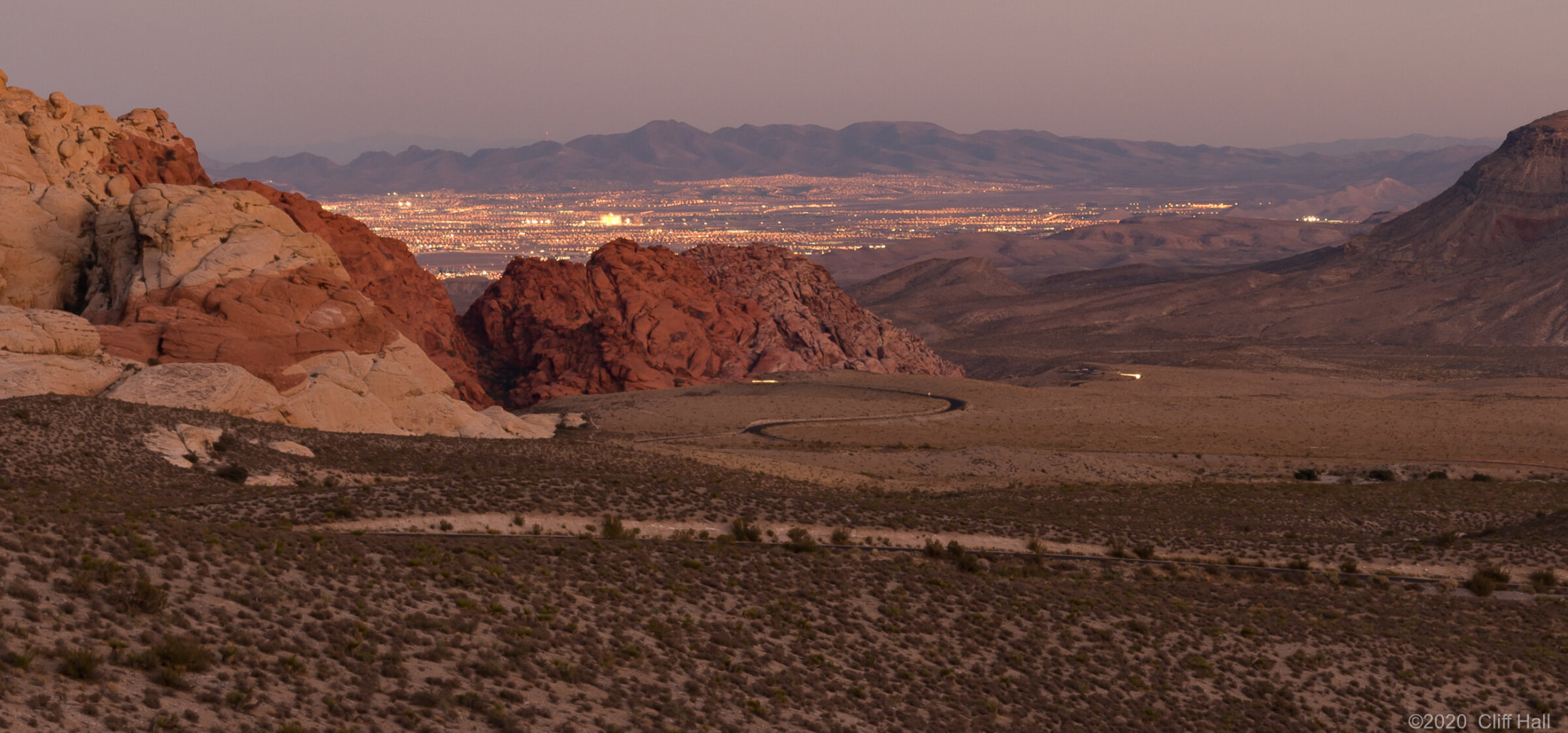 Las Vegas from Red Rock Canyon National Conservation Area