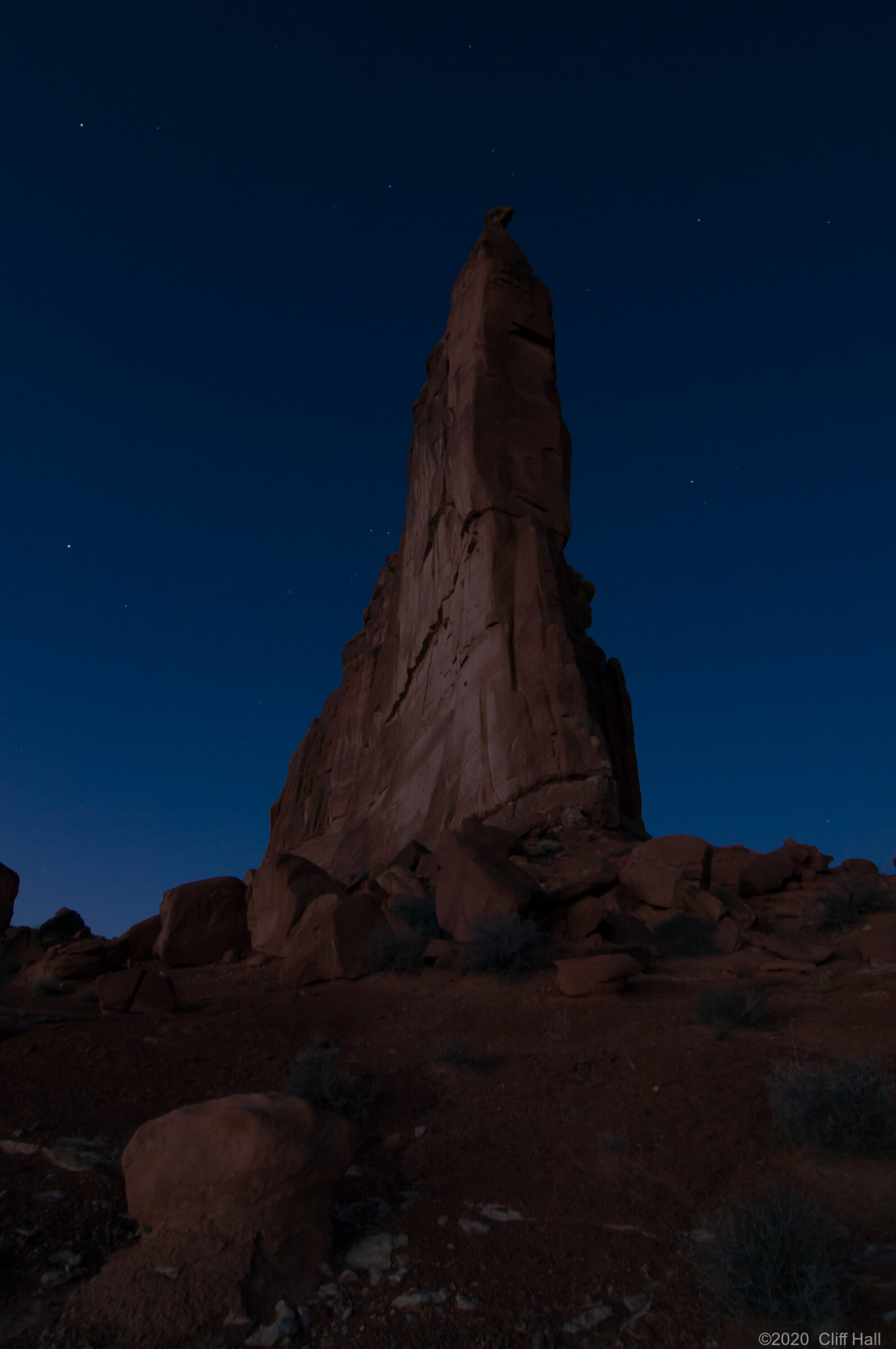 Before the dawn Courthouse Rock, Arches Nat Park
