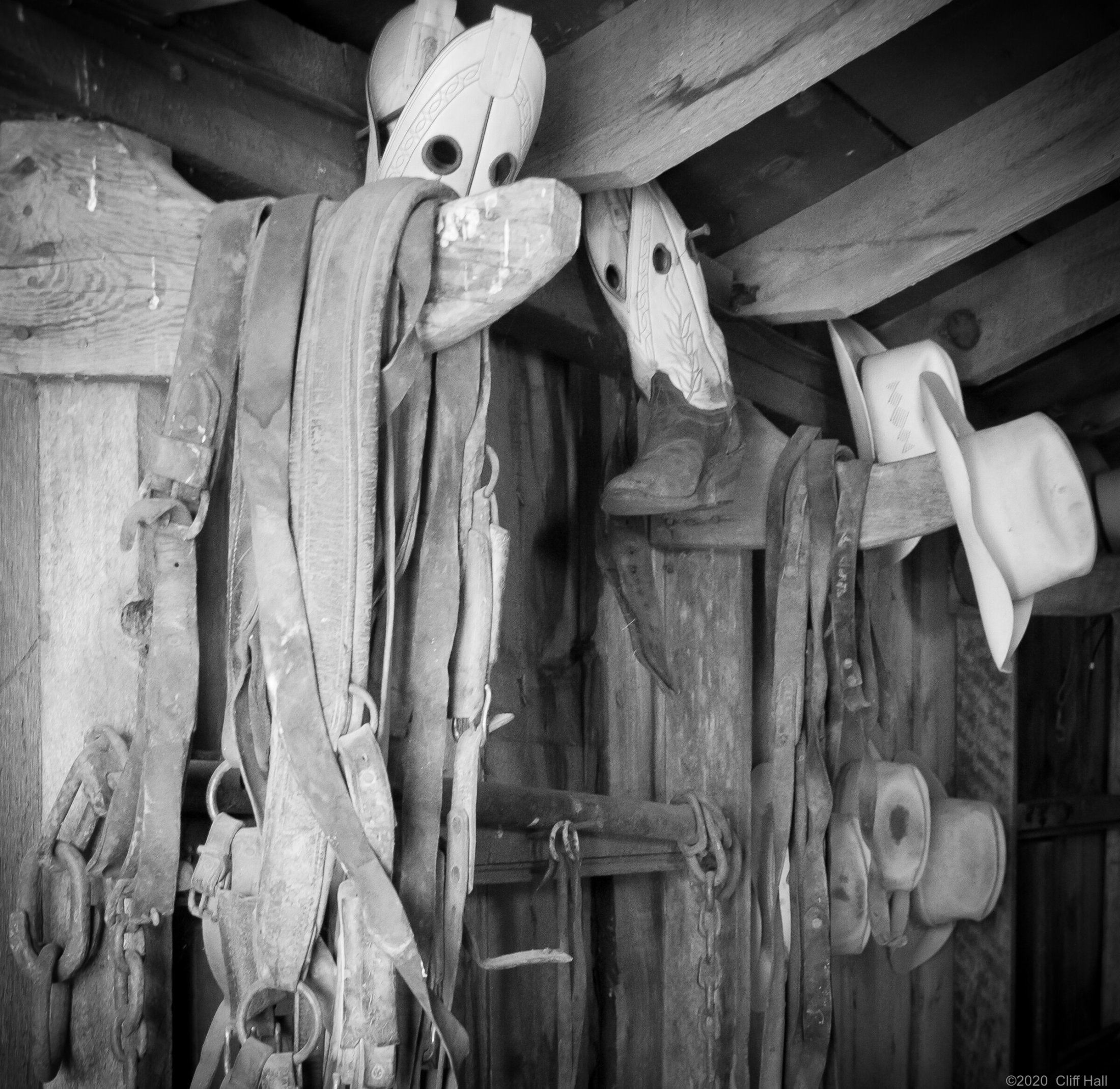 Tack in an old ranch building