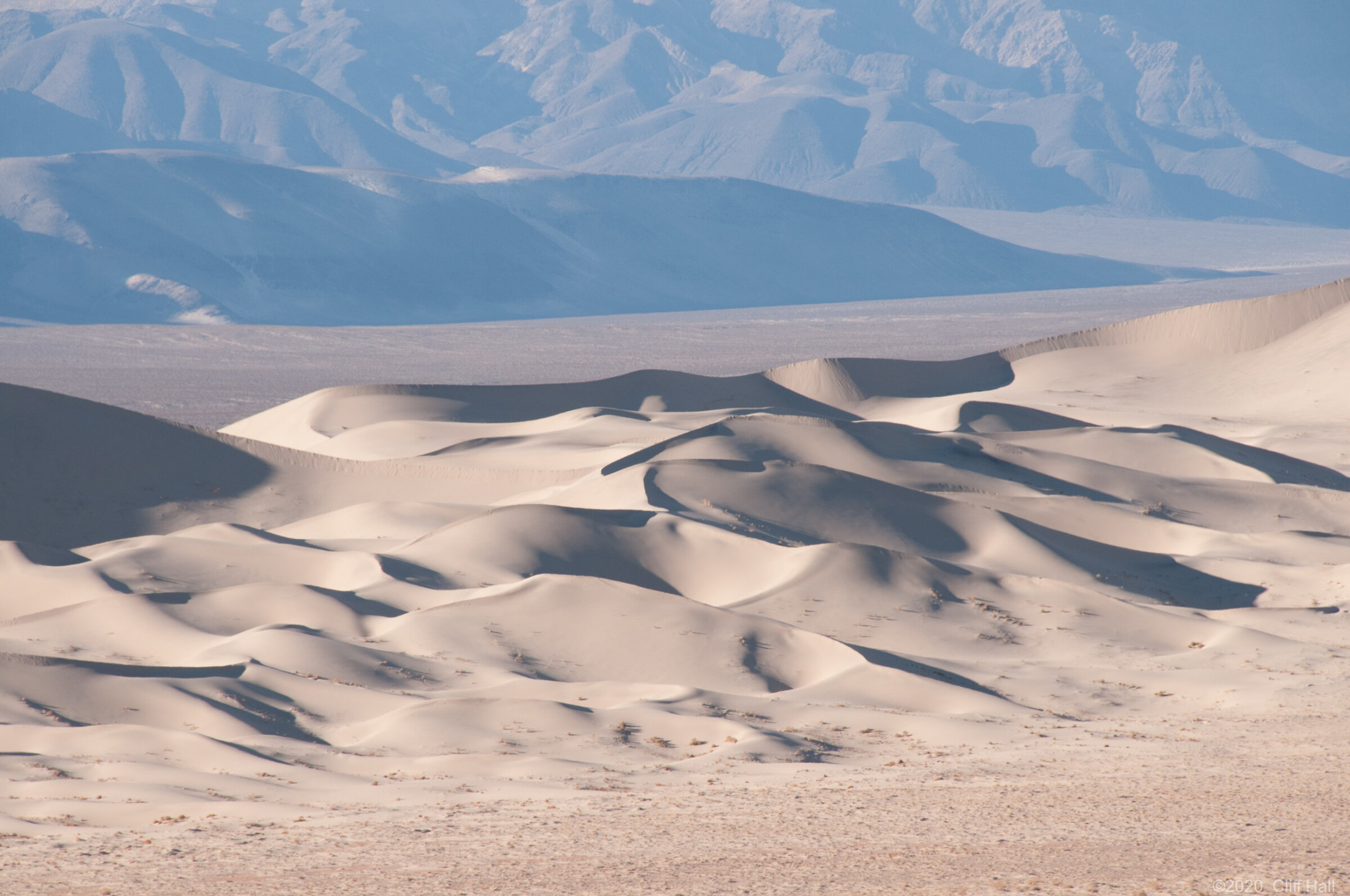 Eureka Dunes has some of the tallest dunes in the US