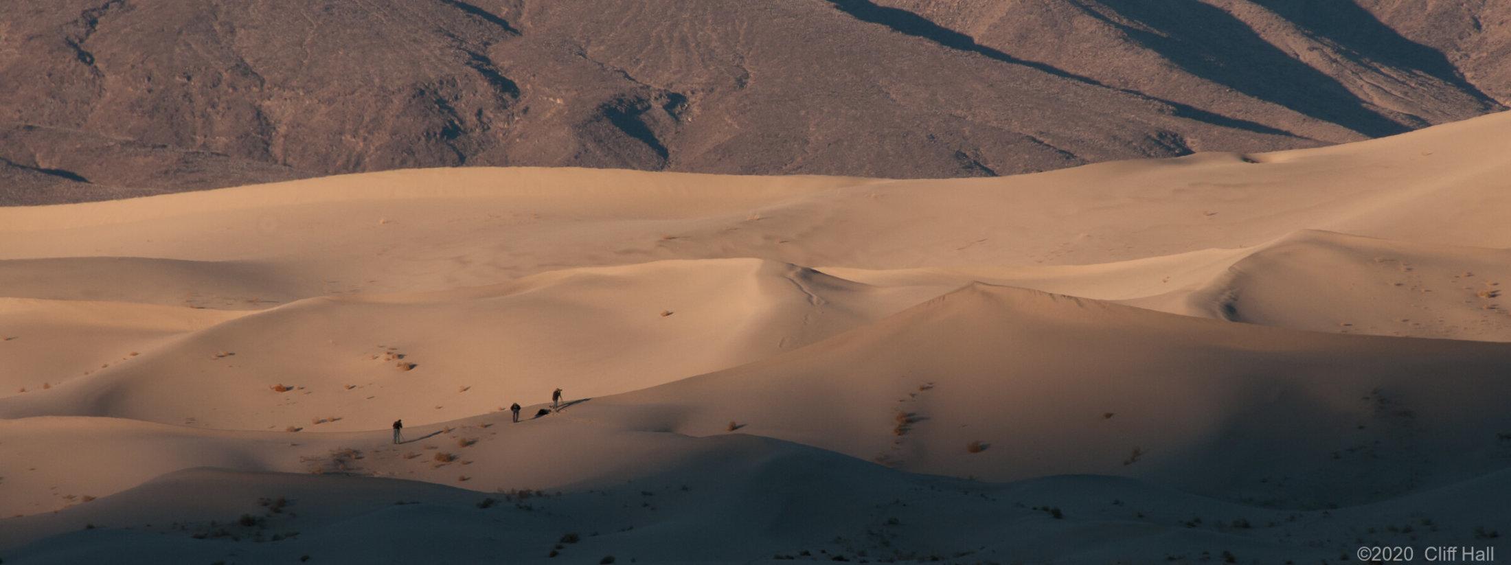 My three friends on Eureka Dunes