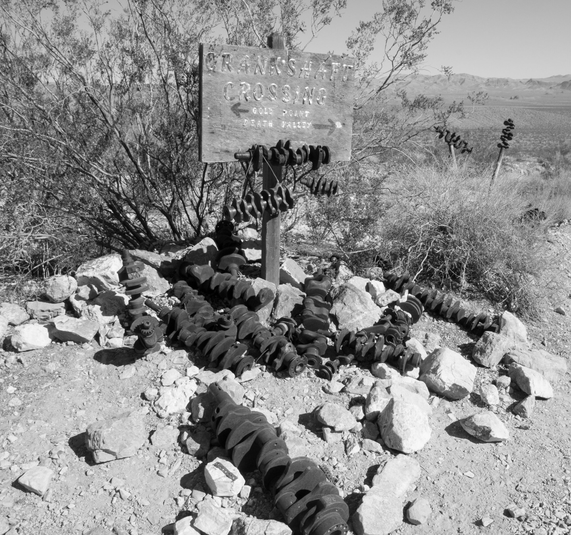 Crankshaft Junction, another quirky spot in Death Valley
