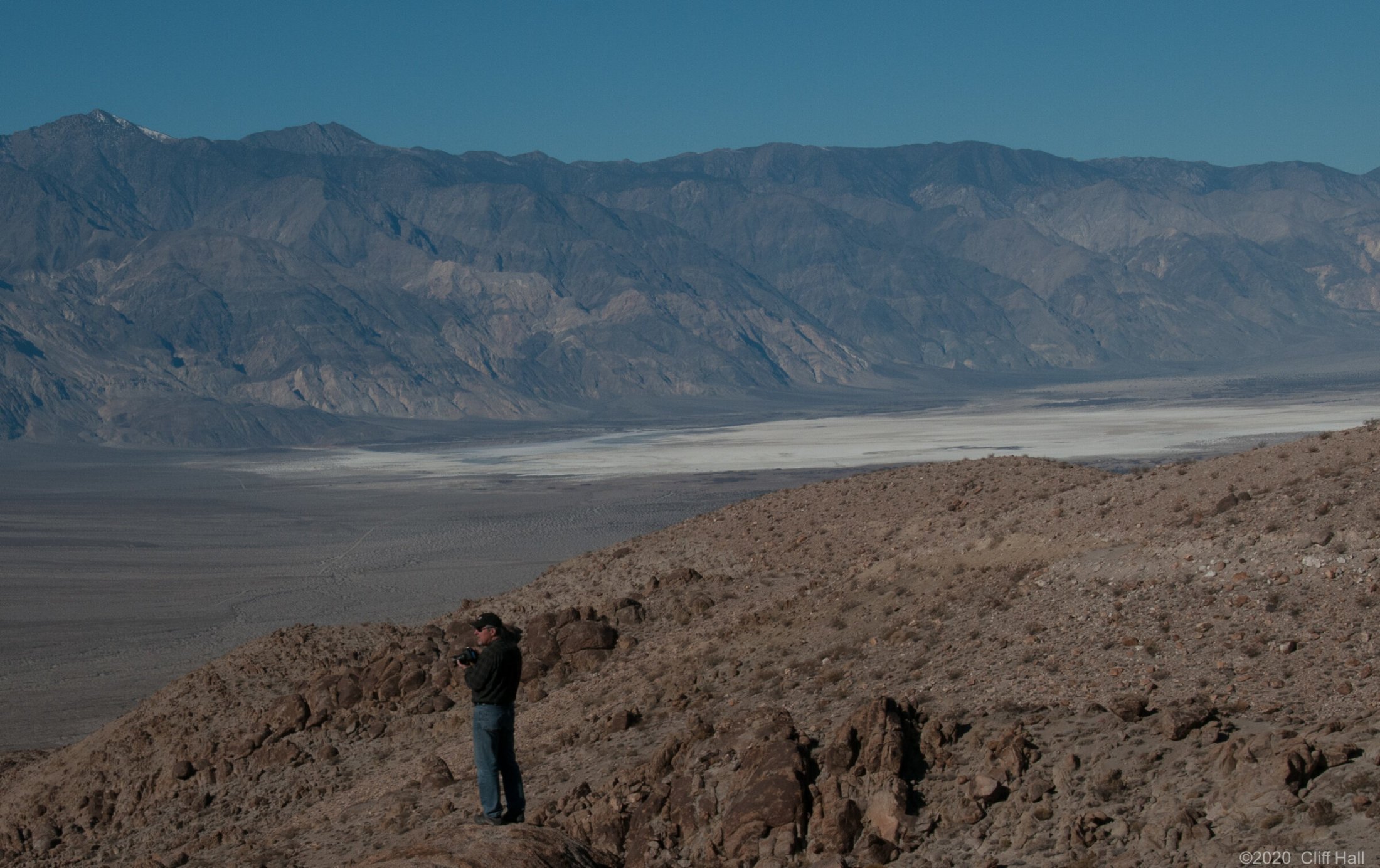 Tucker overlooking Saline Valley