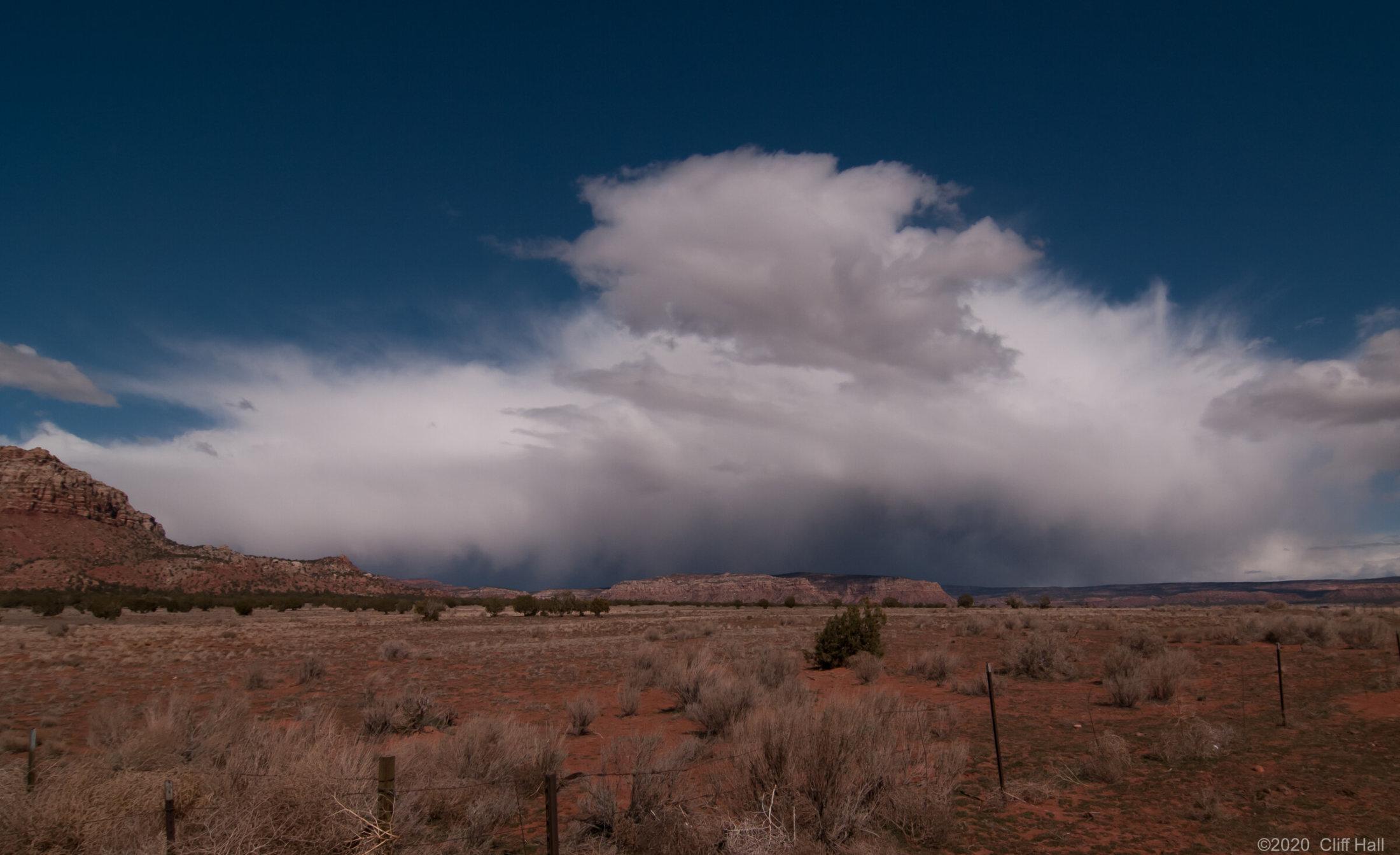 Storm over Cane Beds, AZ