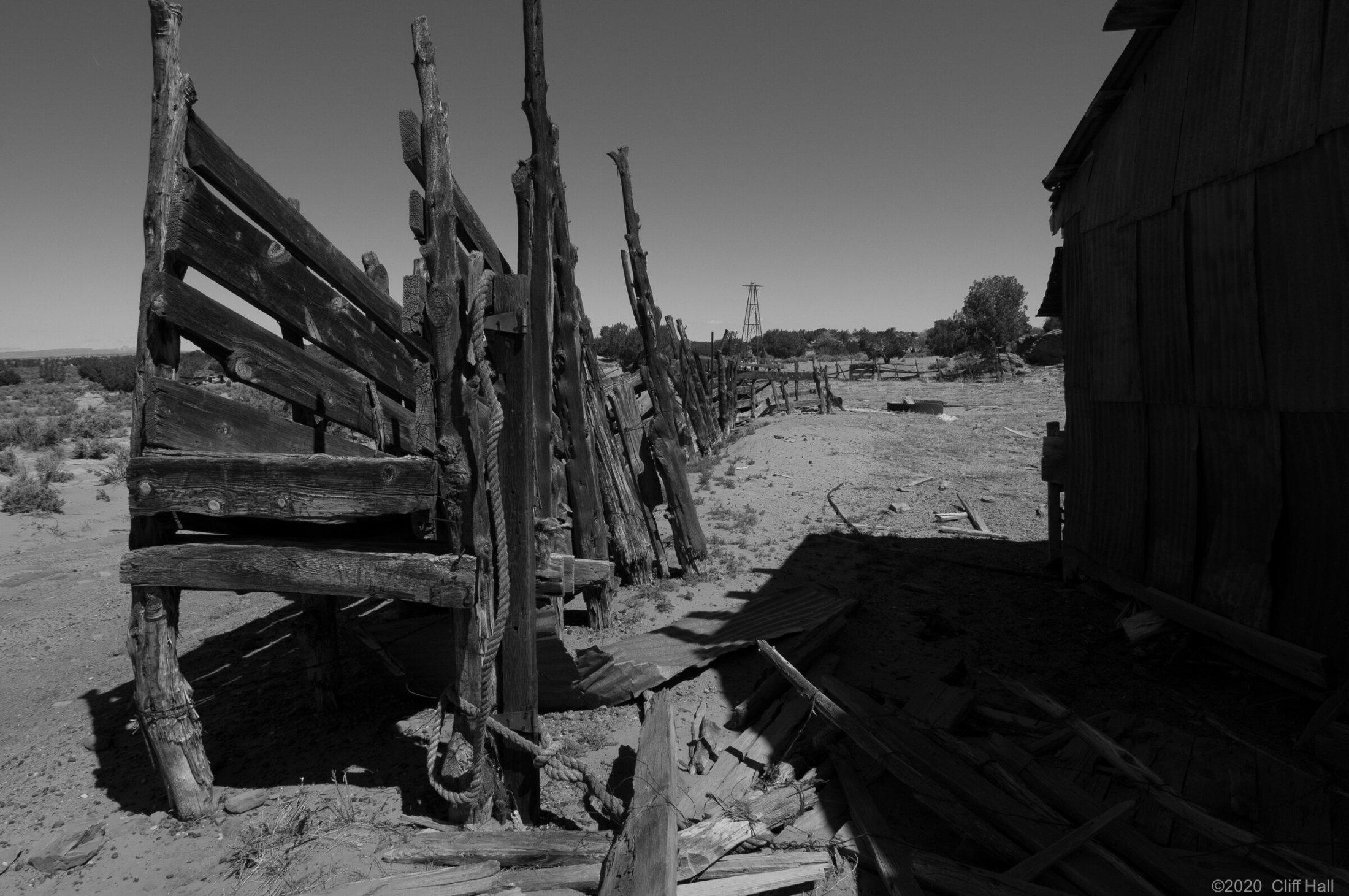 Cattle chute, Poverty Flat Ranch, AZ