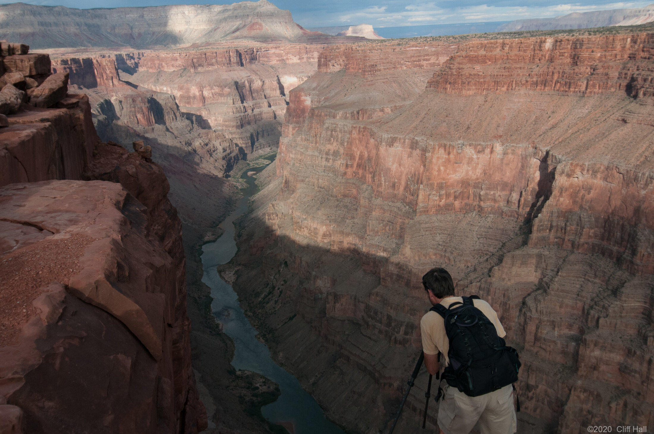 Steve at Toroweap, Grand Canyon, AZ
