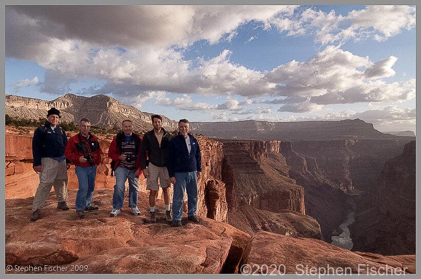 Randy, John, Cliff, Steve and Tucker at Toroweap