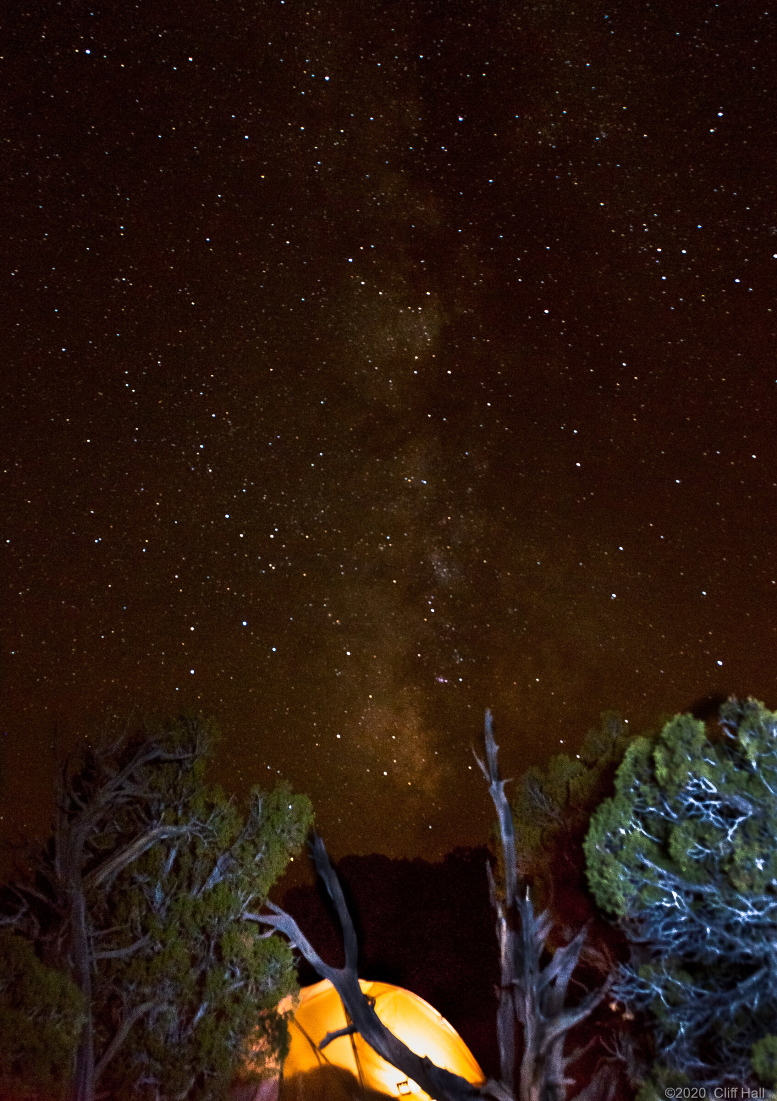 Sleeping under the Milky Way