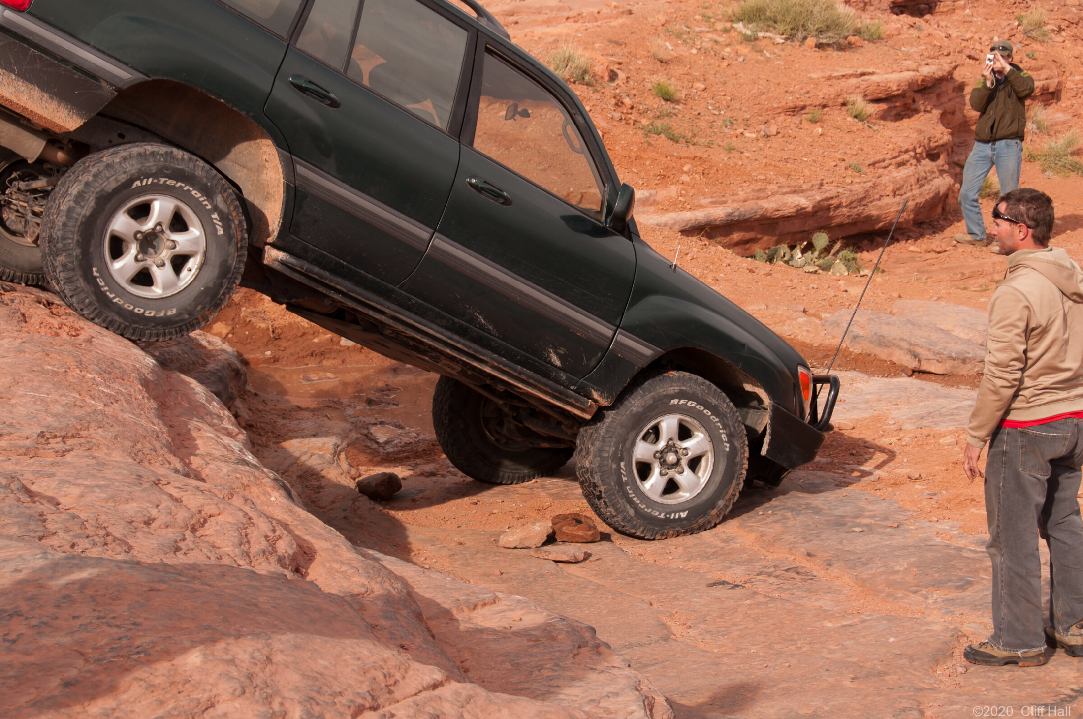 Stack some rock and got the bumper unwedged