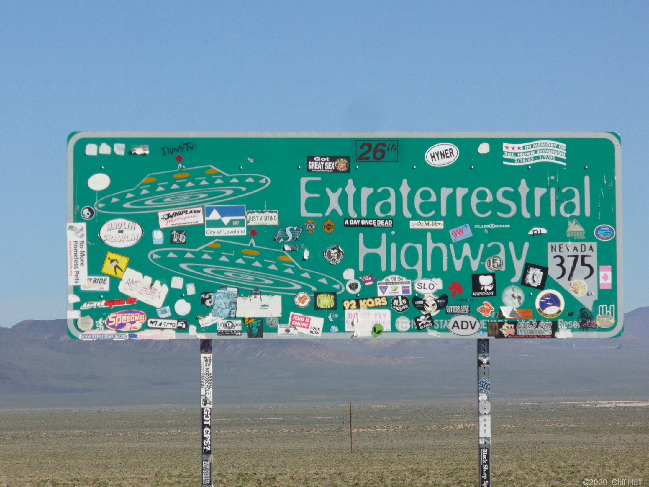 Sign of the times, middle of nowhere, NV