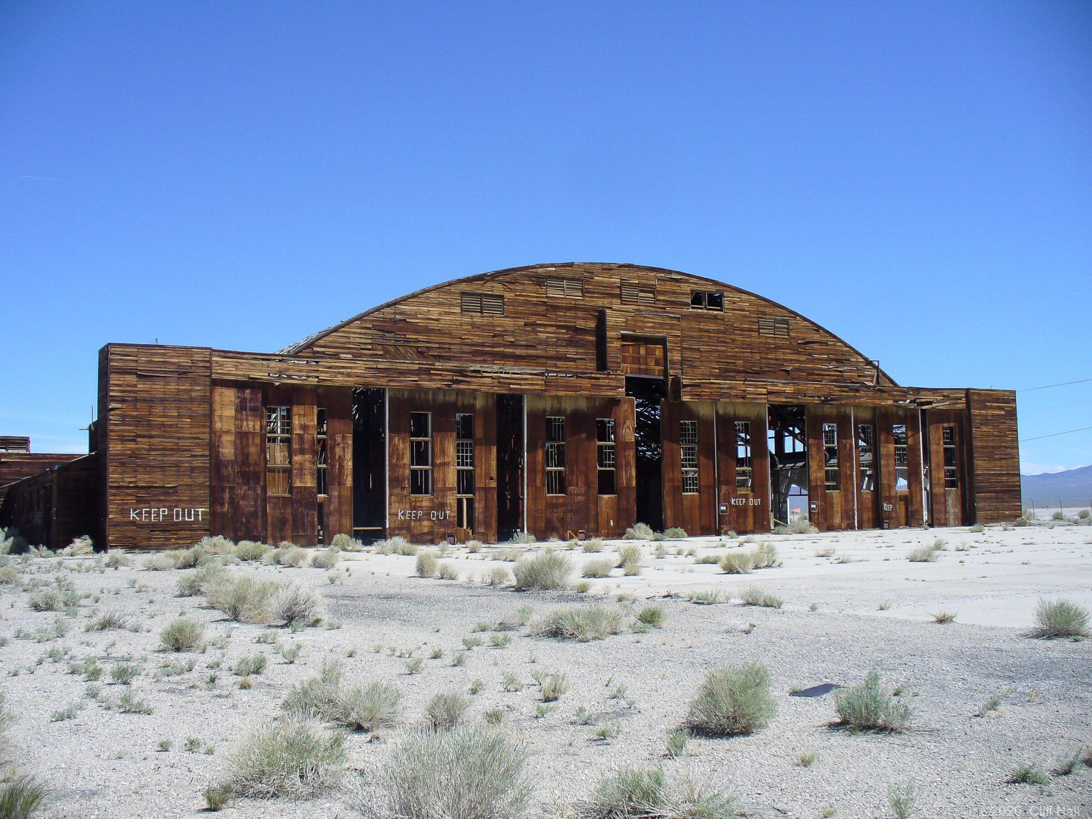 Tonopah WWII wooden hanger, NV