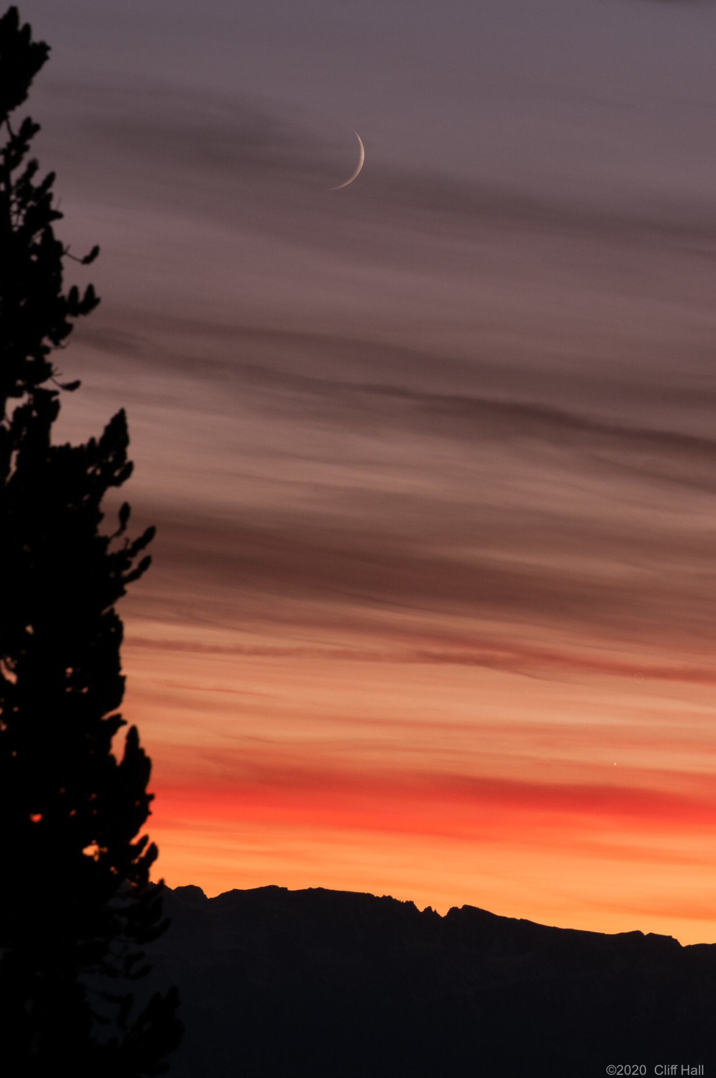 Sunset and Moonset