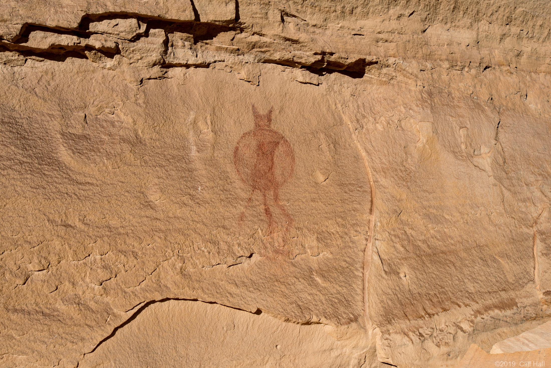 Lone Warrior Petroglyph, UT