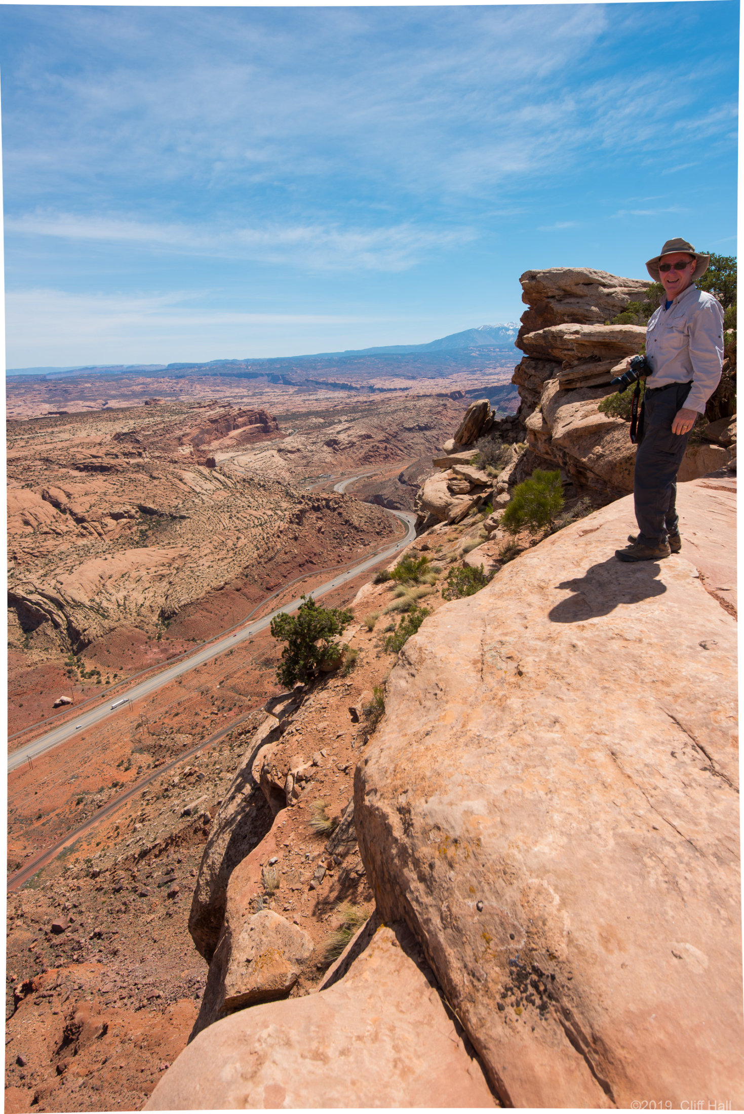 Don at the top of Gold Bar Rim trail