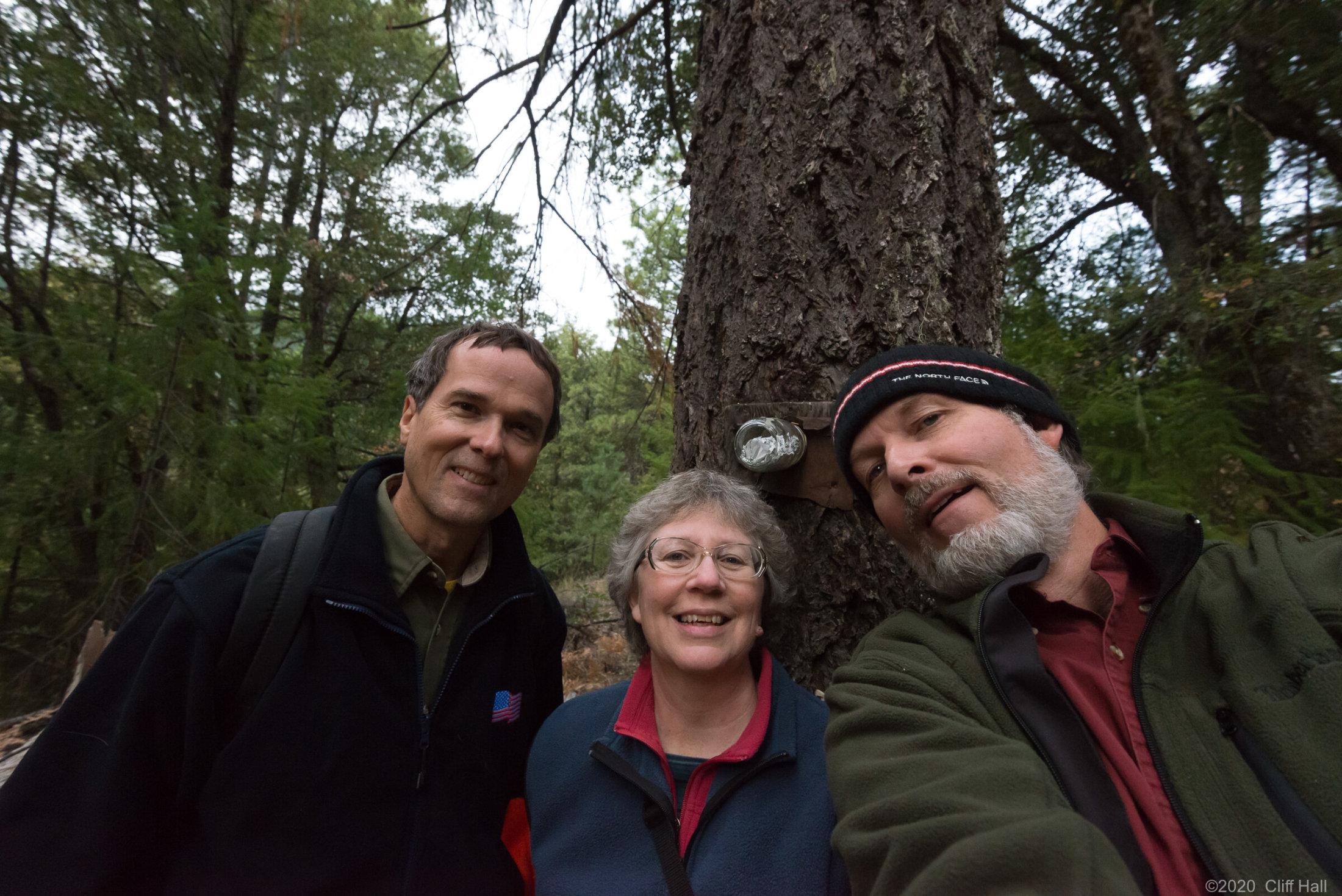 Karl, Susan and Cliff at main claim marker