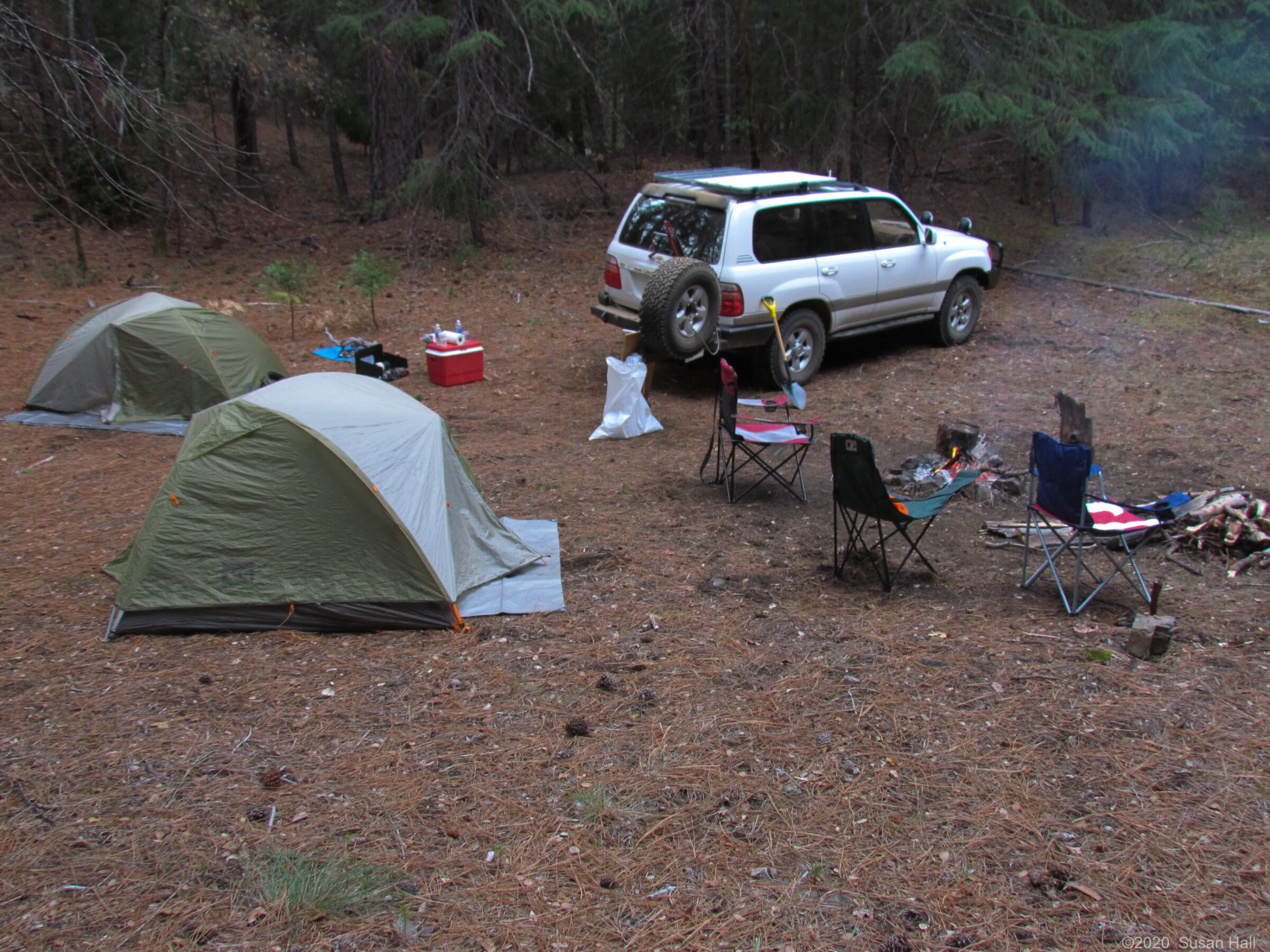 Our camp at the mine