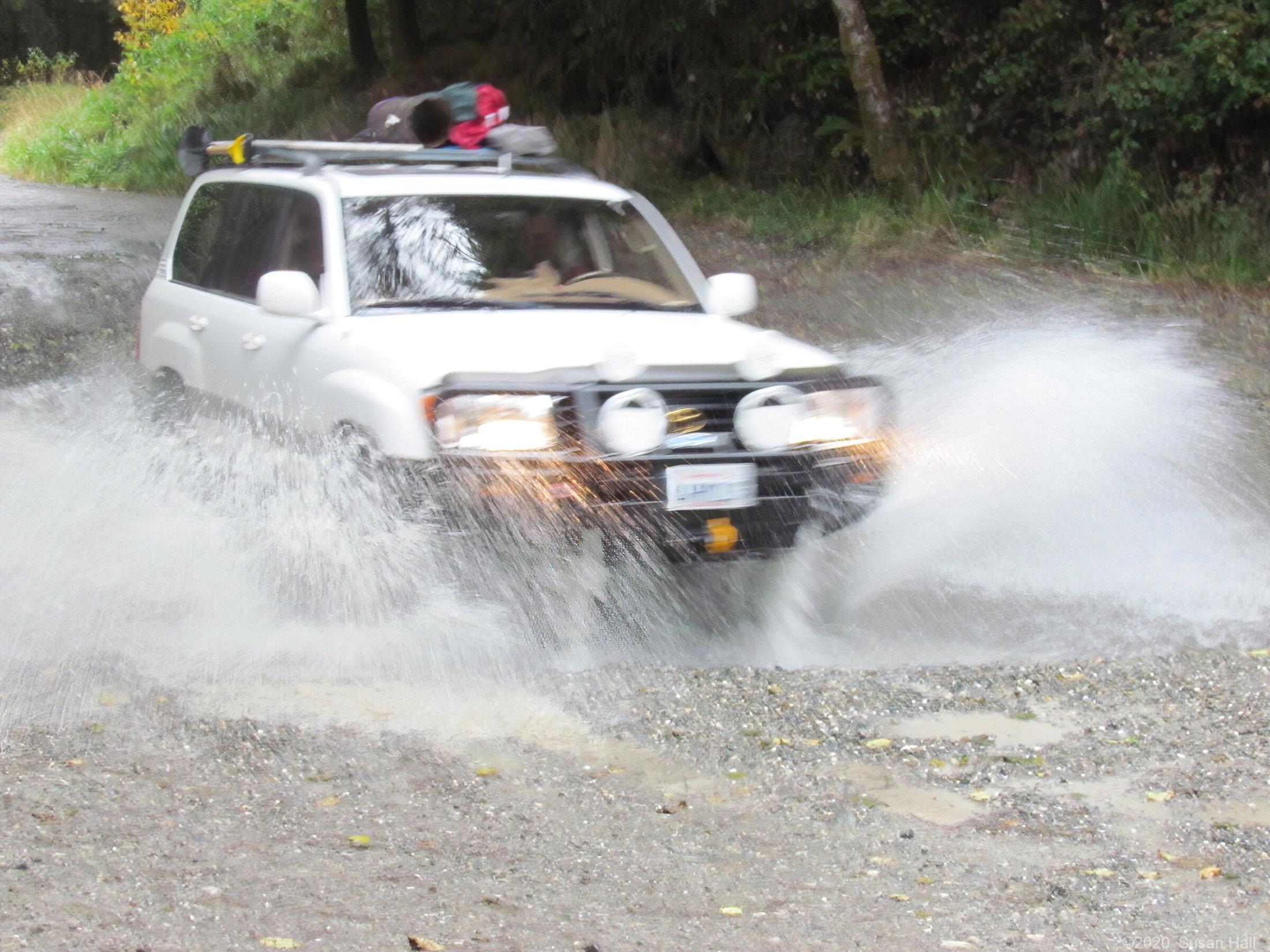 Blasting through a stream