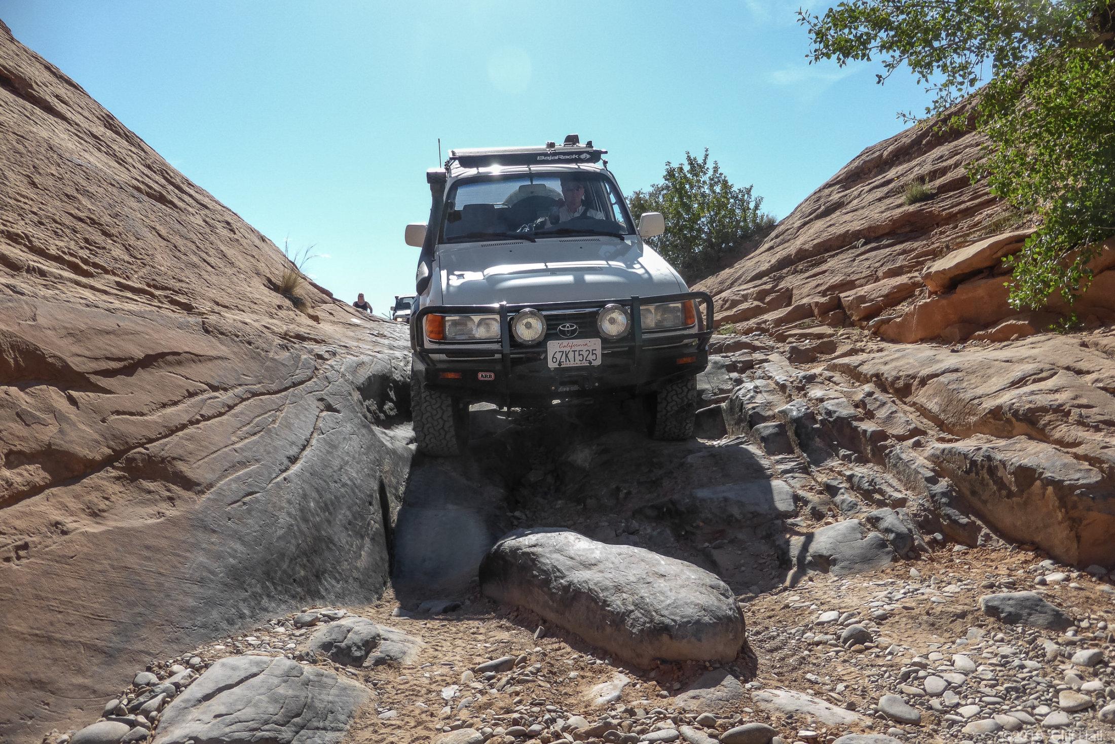 Ledge on Poison Spider Trail