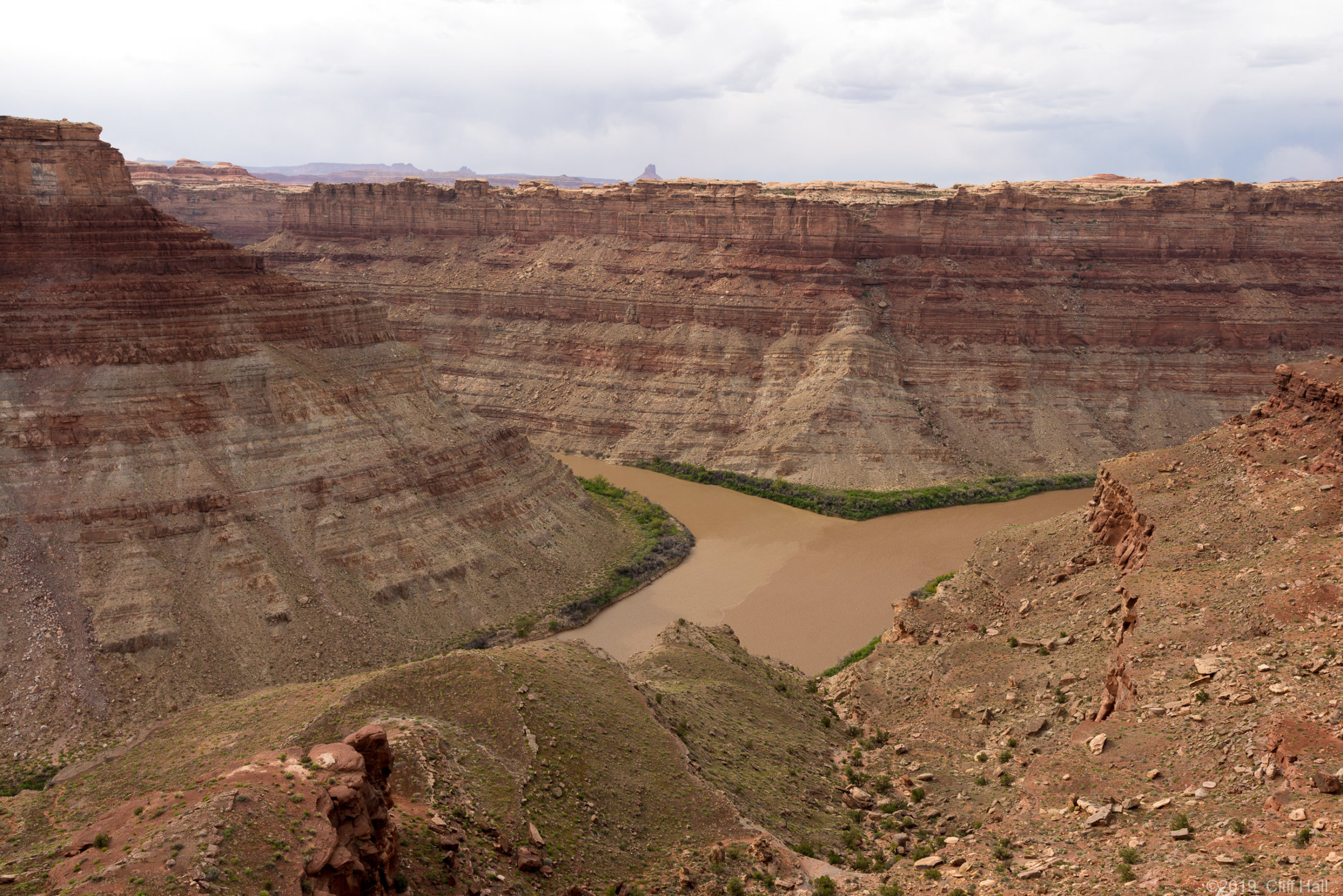 Confluence of Green (left) and Colorado Rivers, UT