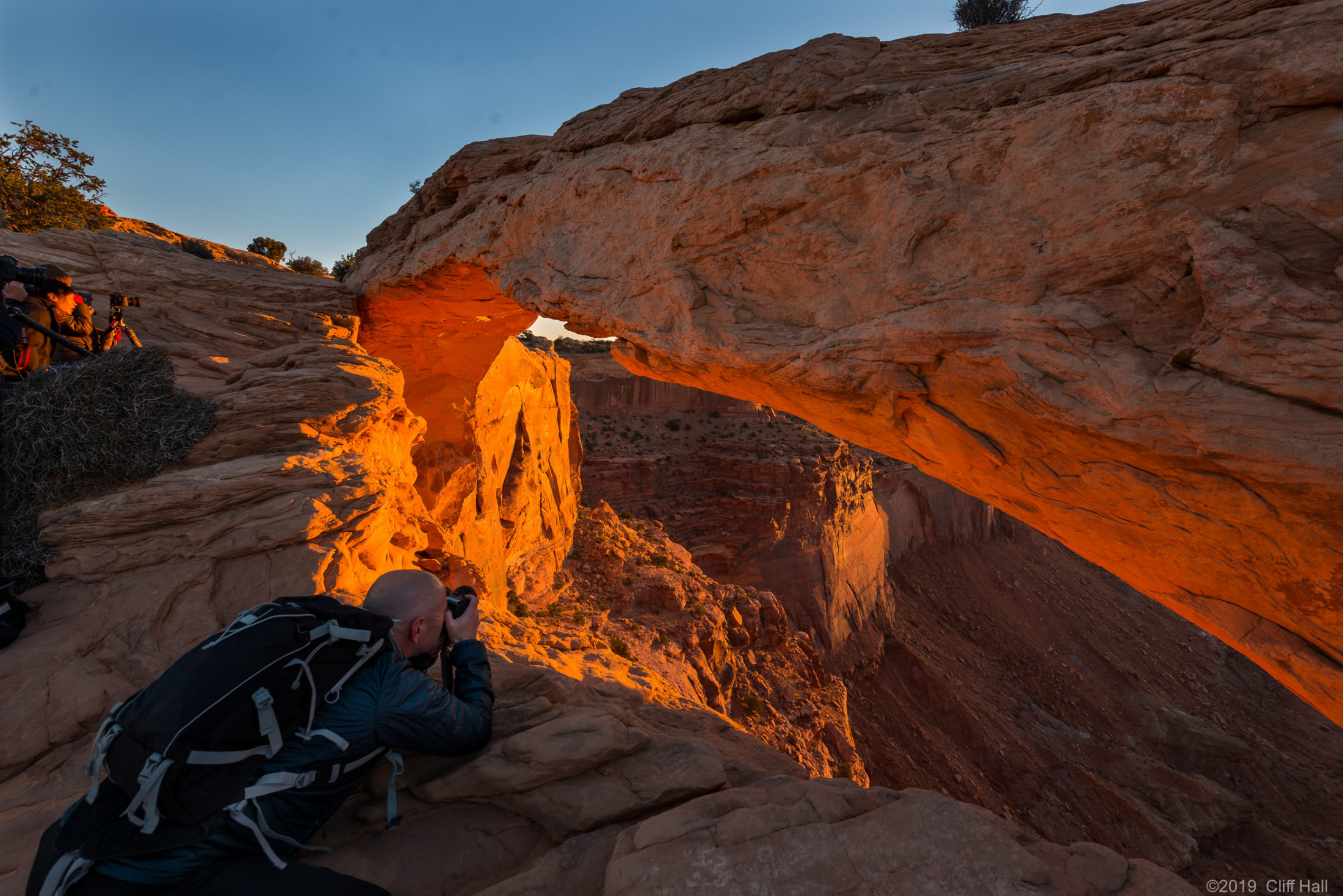 Looking for that Kodak moment at Mesa Arch