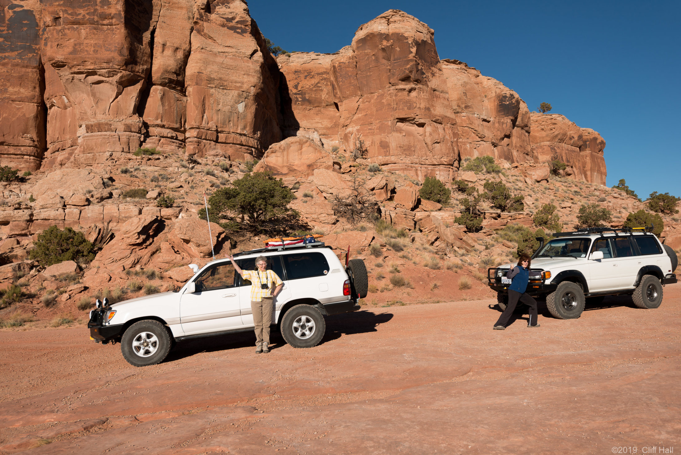 Susan and Debbie at start of White Rim Trail