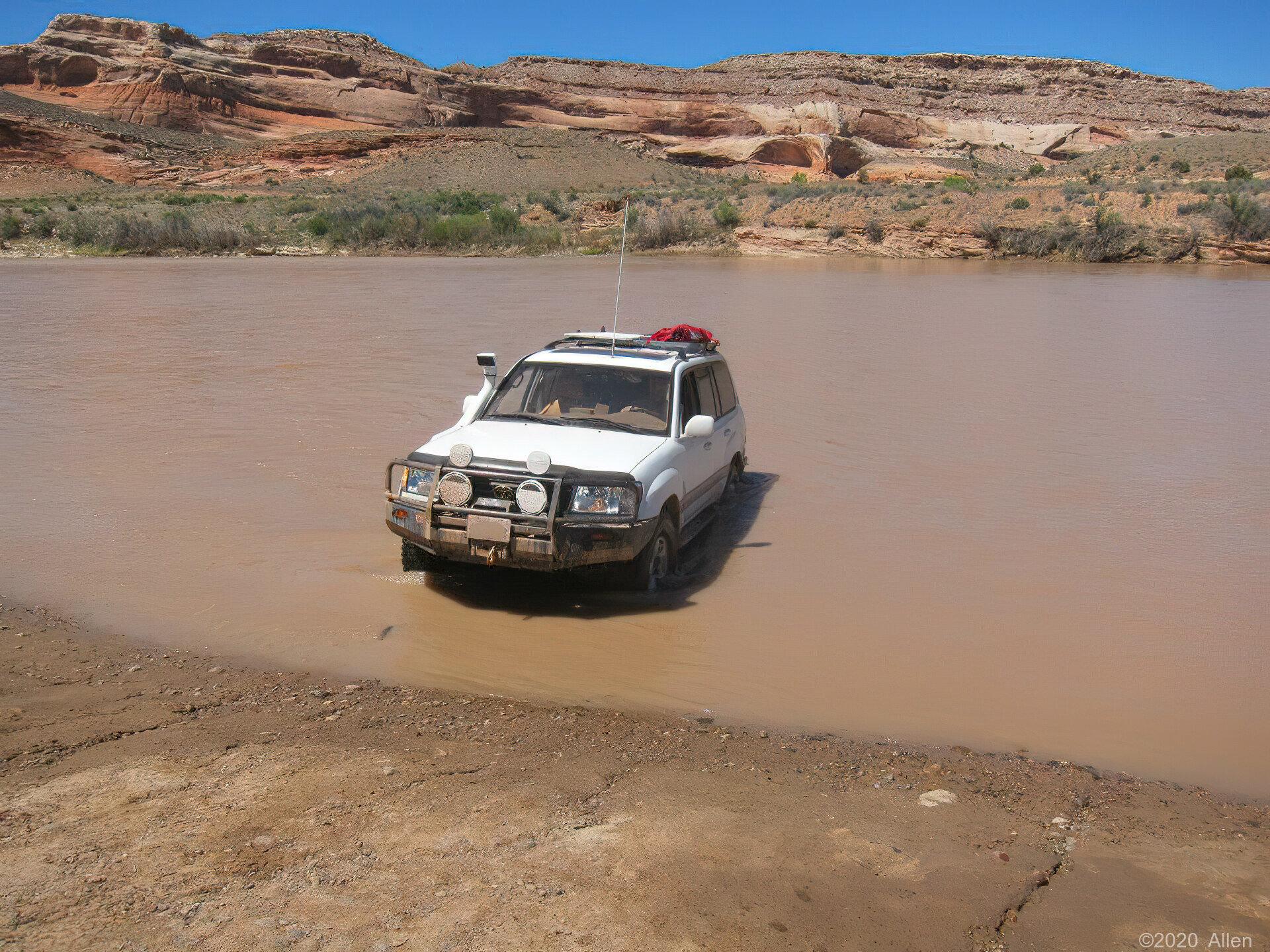 Washing some mud off