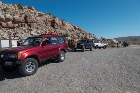 Vince's red Land Cruiser