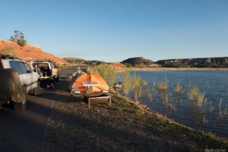 Escalante, lake side camping