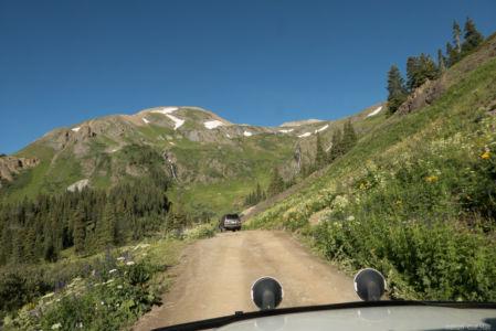 Starting up Black Bear Pass Road