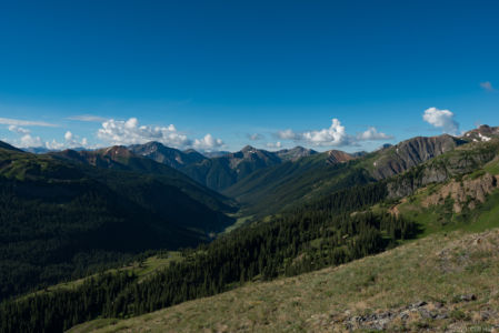 View to the south from Black Bear Pass Rd
