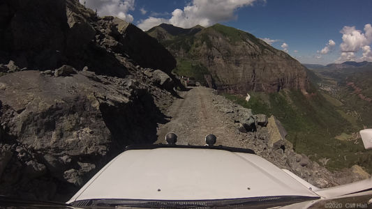 Narrow and steep