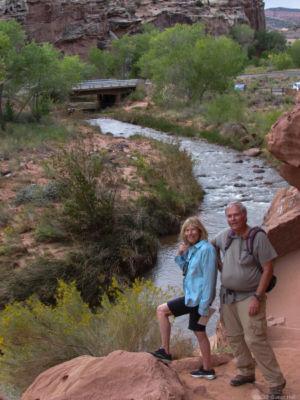 Marilyn and Cliff at Hickman Bridge Trailhead