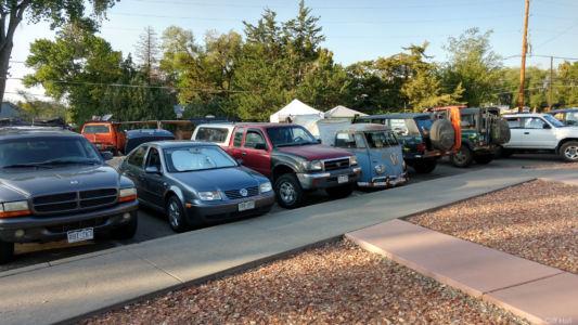 Folks arrived in a wide range of vehicles
