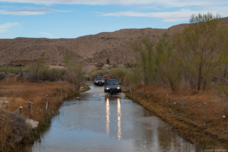 Mojave Road crossing the Mojave River