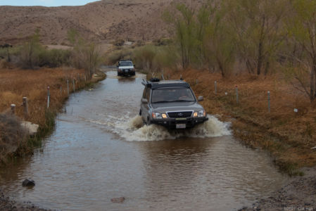 Duc & Don fording the Mojave River