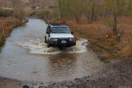Don fording the Mojave River