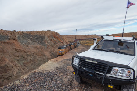 Train along the Mojave Road