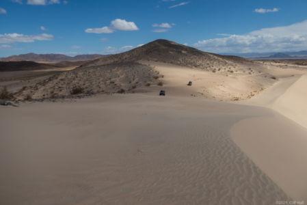 Climbing the Sandboard Dunes