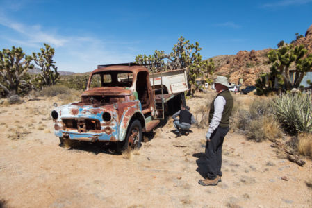 Duc & Don check out an old Dodge Dually Flatbed